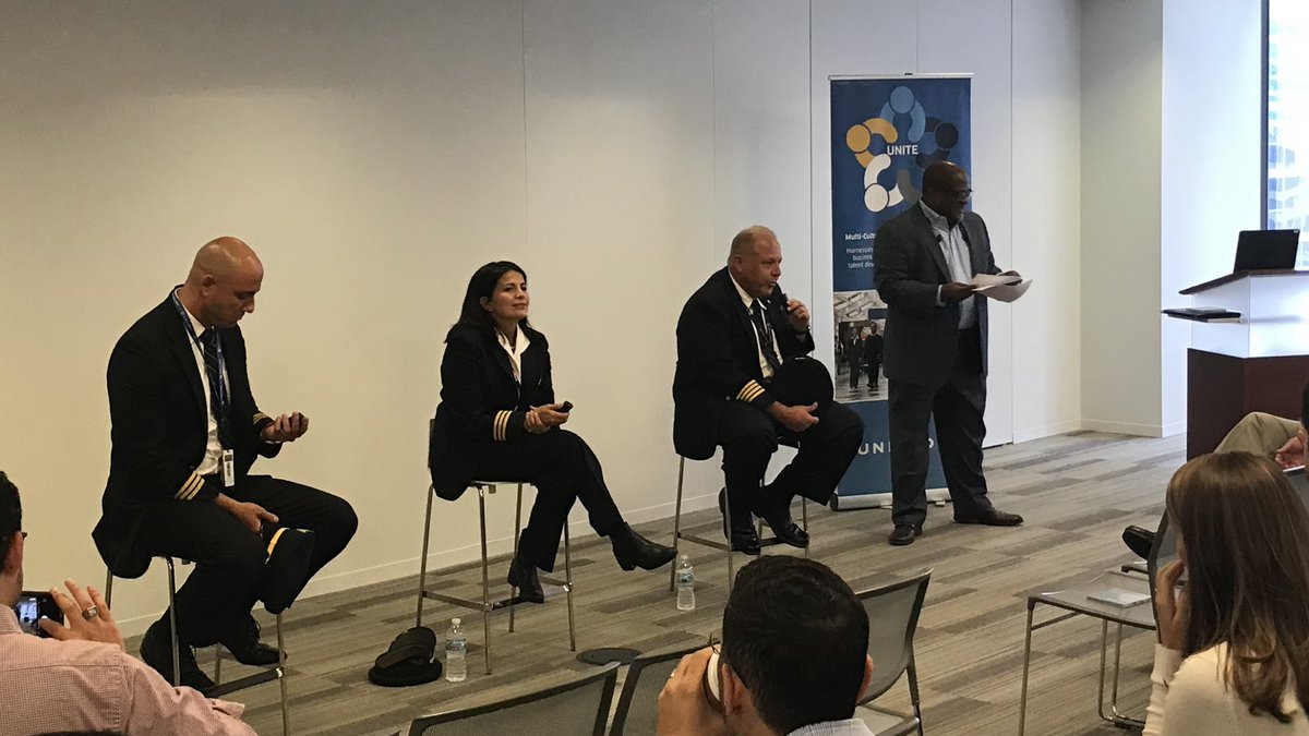 """Celebrating Latino Heritage at CSC with a wonderful Unite BRG event """"First in Flight"""" showcasing United Latino pilots. @weareunited"""