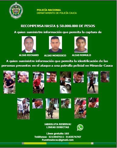 Ayúdenos a capturarlos, recompensa hasta de $50'000.000 ABSOLUTA RESERVA https://t.co/xt4FIu2YRr
