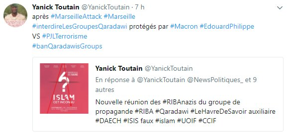 &quot;I consider this type of #martyrdom operation as an evidence of God&#39;s justice.&quot; #Qaradawi #ribanazis&#39;godfather helped by #EdouardPhilippe <br>http://pic.twitter.com/YEsTVlBxQ8