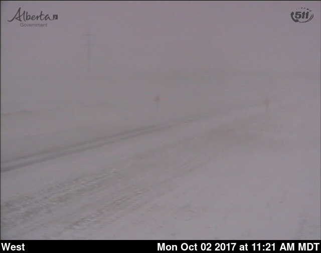 Here's what #hwy1 near #Chestermere looks like.  The TransCanada is closed between #GardenRD & #Bassano. https://t.co/T81rjTKbOw