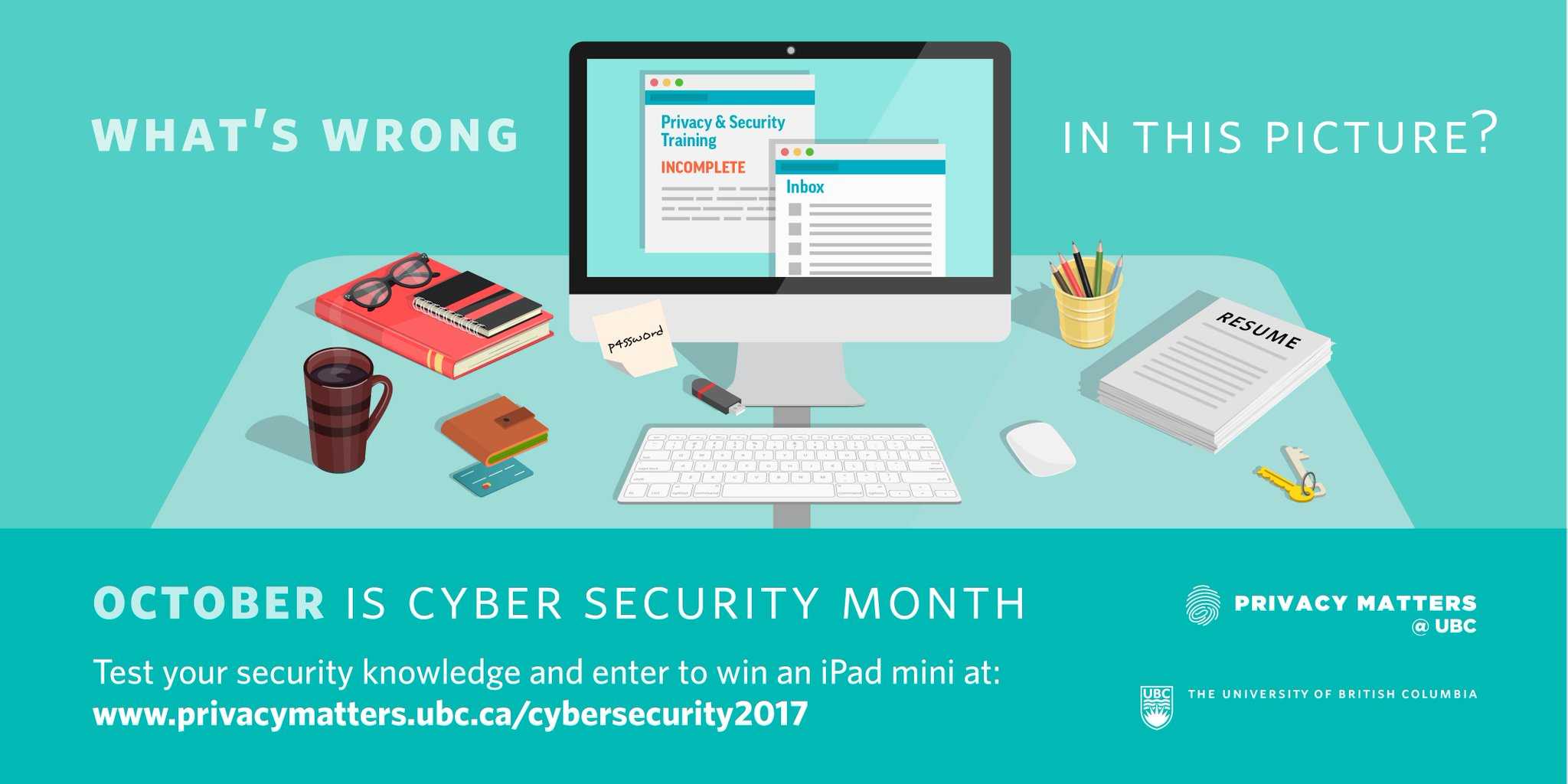 Clean Desk Policy Template UBC On Twitter October Is Cyber Security Awareness Month UBC Faculty Staff Would You Pass