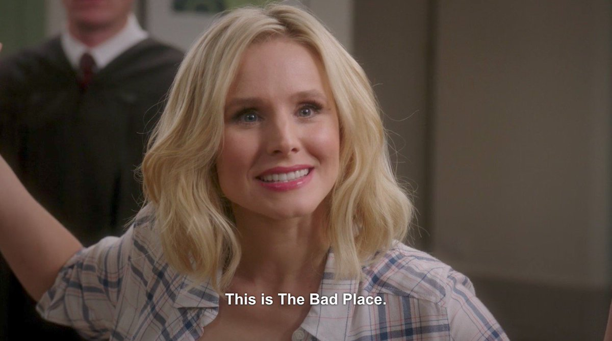 Image result for the good place the bad place