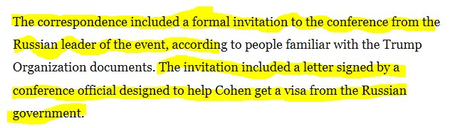 Thread by aliasvaughn 1 sooo lets see what we have here 2 formal invitation included letter signed by conference official to help cohen get a visa from ru government meaning talks did progress stopboris Images