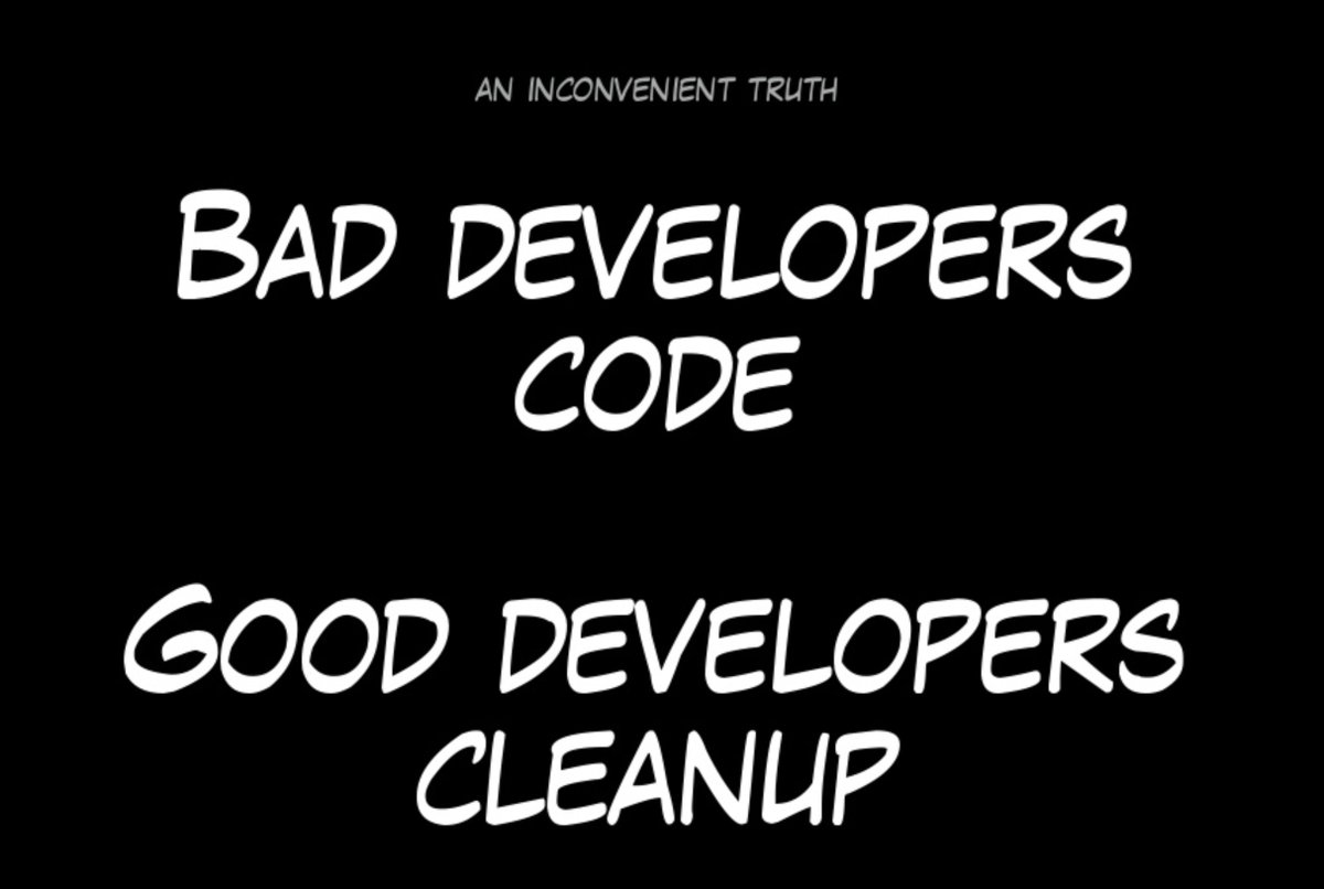 "Alberto D Amico simone d'amico on twitter: """"bad developers code - good"
