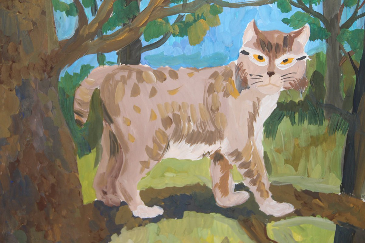 Рисунки детей животные картинки