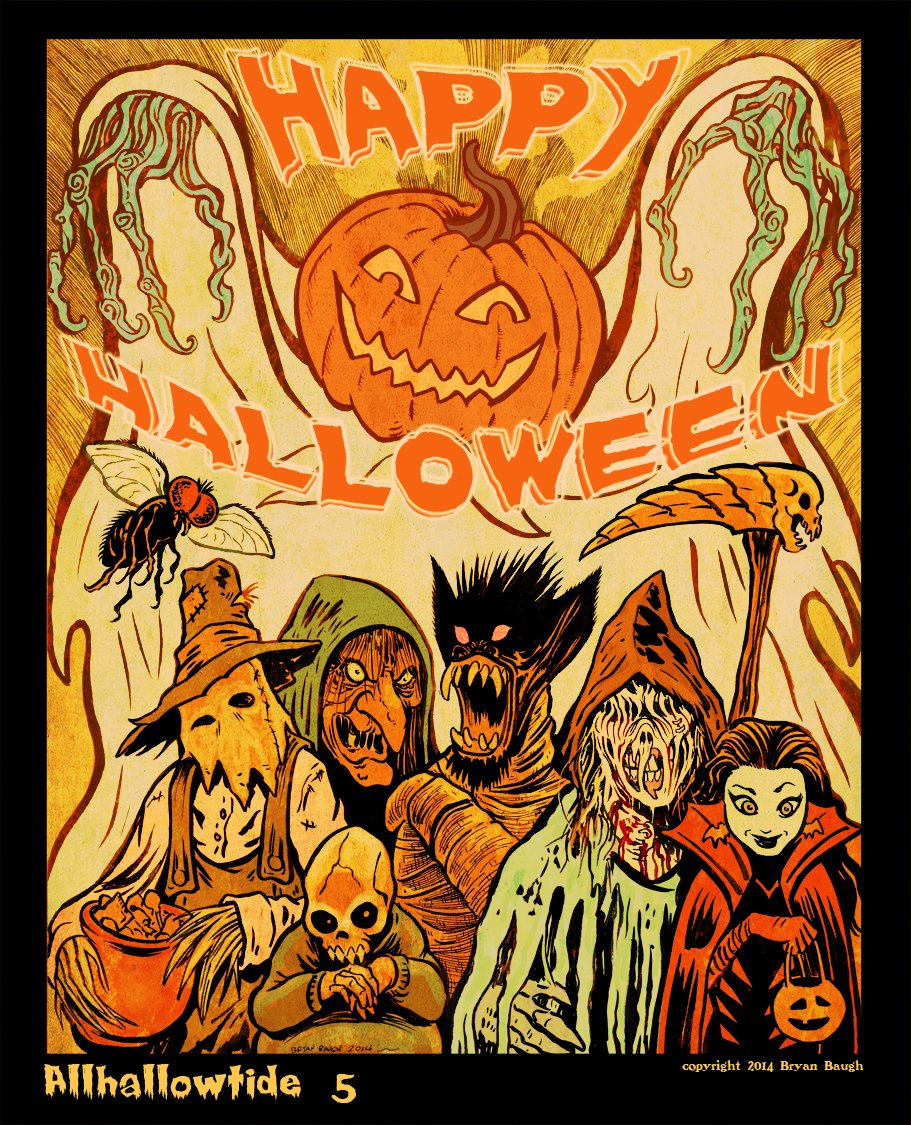 """bryan baugh on twitter: """"check out my series of halloween art prints"""