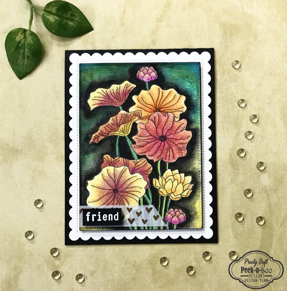 dutt preety on twitter floral friendship card peekaboodesigns