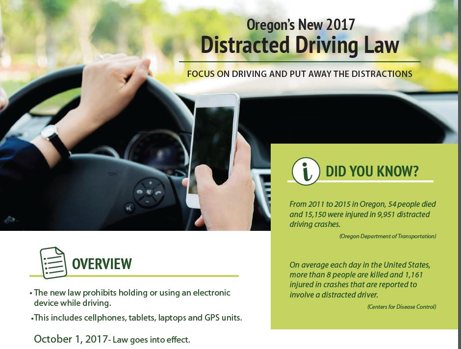 Lane County Sheriff On Twitter New Oregon Distracted Driving Law Is In Effect Be Safe