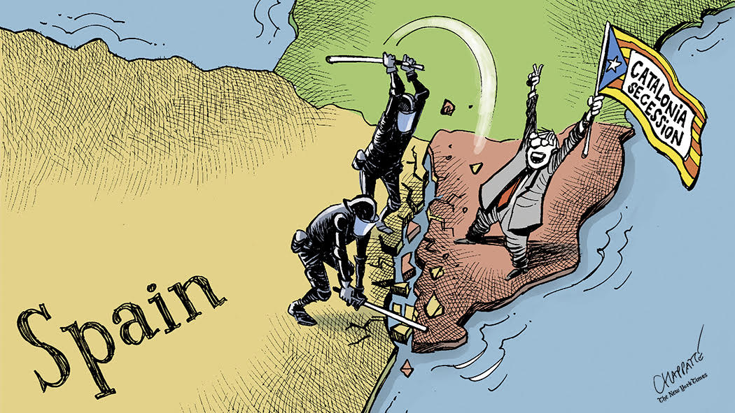 After Catalonia's chaotic vote for independence: https://t.co/0LMXZBg1GJ by @PatChappatte