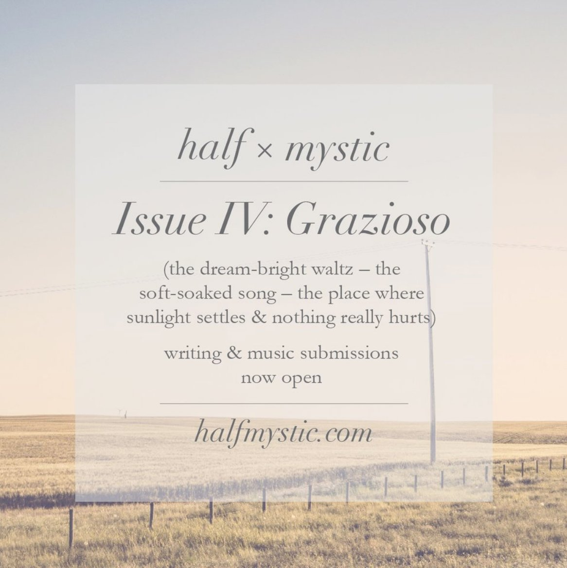 Half mystic press on twitter songbirds dont forget that we are half mystic press on twitter songbirds dont forget that we are still open for music writing submissions to issue iv grazioso stopboris Gallery