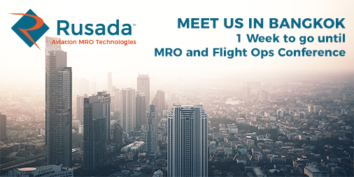 It's just 1 week until the @AircraftCommrce #MRO and #Flightoperations Conference in Bangkok. Will we see you there? https://t.co/UI7qOB8ZlH