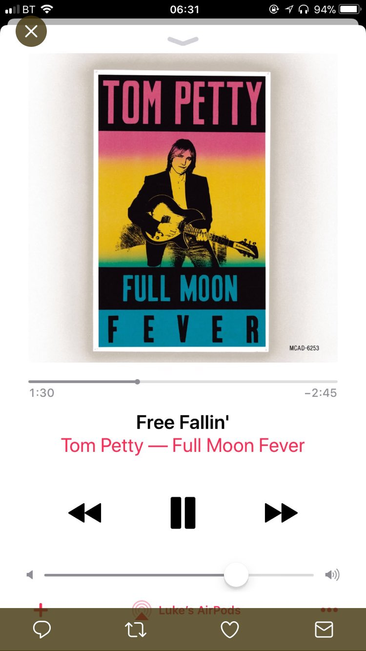 This is what I am listening to this morning .... it just feels right. Join me at 10 @SmoothRadio #tompetty  #rip https://t.co/O1mWH2xv5J