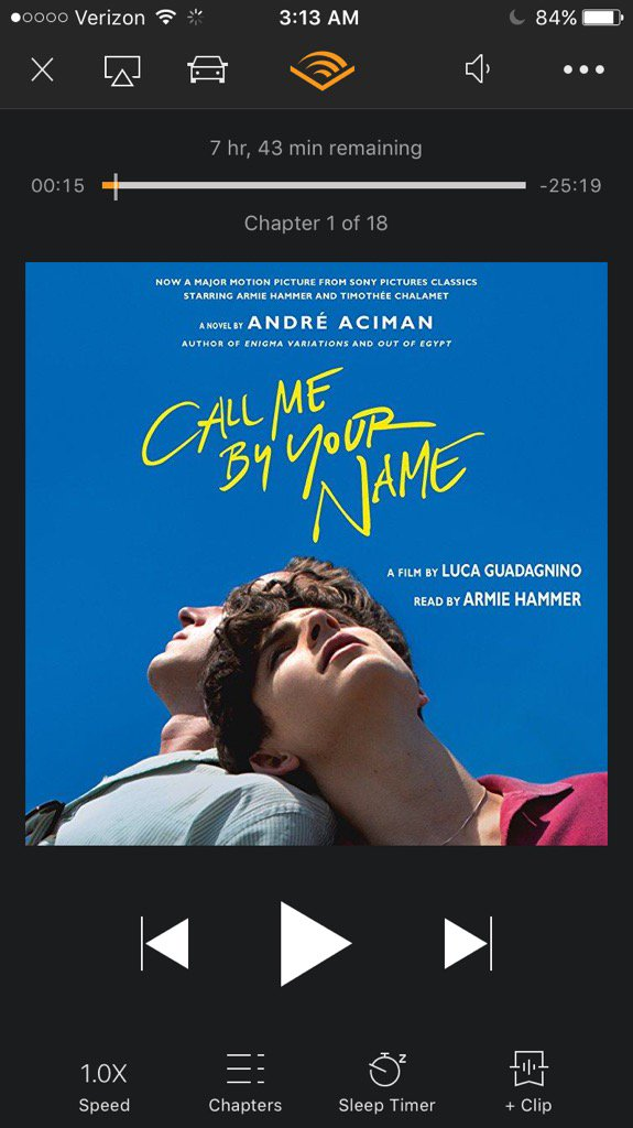 call me by your name audiobook armie hammer free