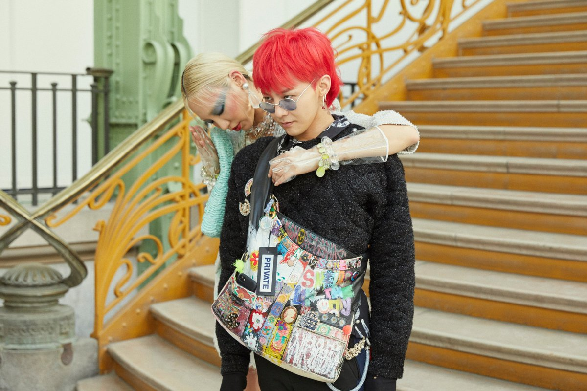 Soo Joo and G-Dragon backstage at the #CHANELSpringSummer 2018 show #PFW @soojoo @IBGDRGN