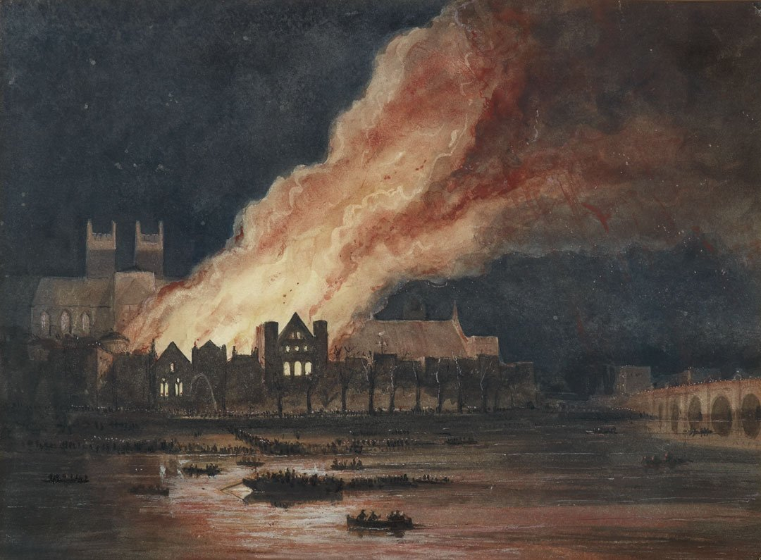 the burning of the parliament building