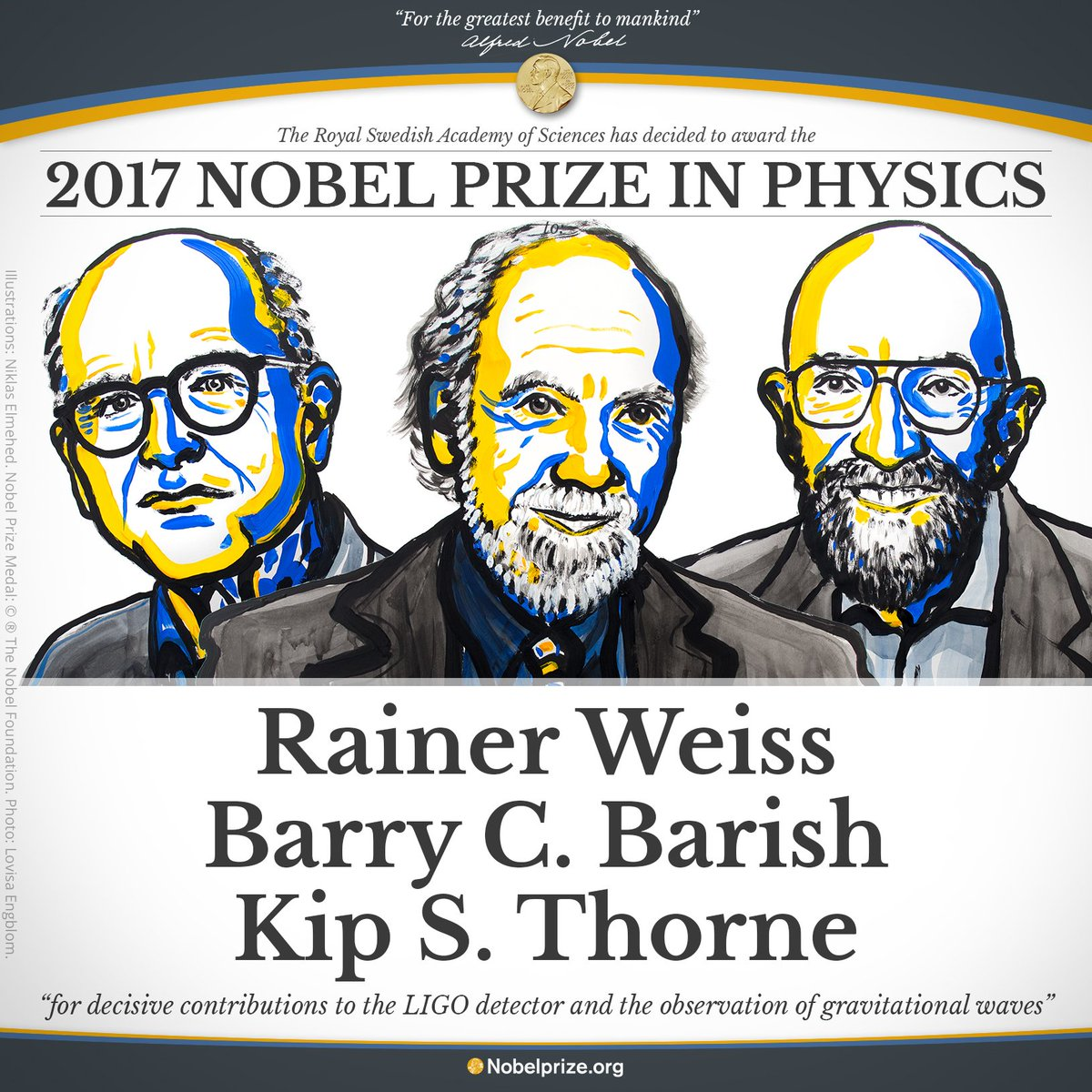 The 2017 Nobel Prize for physics goes to three scientists who proved Einstein right