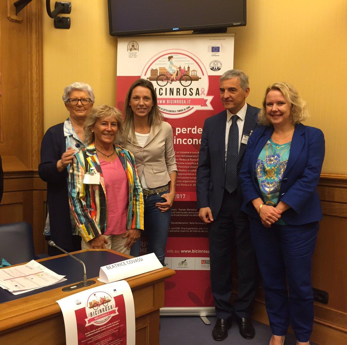 Questa mattina alla Camera si è tenuta la conferenza stampa di #Bicinrosa. Il 22 Ottobre a Roma in sella per combattere il tumore al #seno. https://t.co/C70ftpRpvx