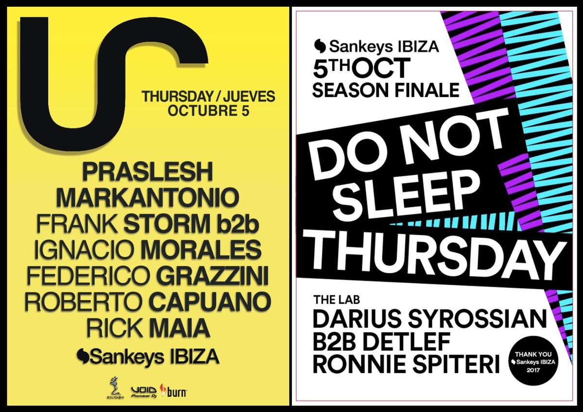 Thursday 5th October   You know it&#39;s about to get serious!   #Ibiza2017 #SankeysIbiza <br>http://pic.twitter.com/6iU1piD1wv