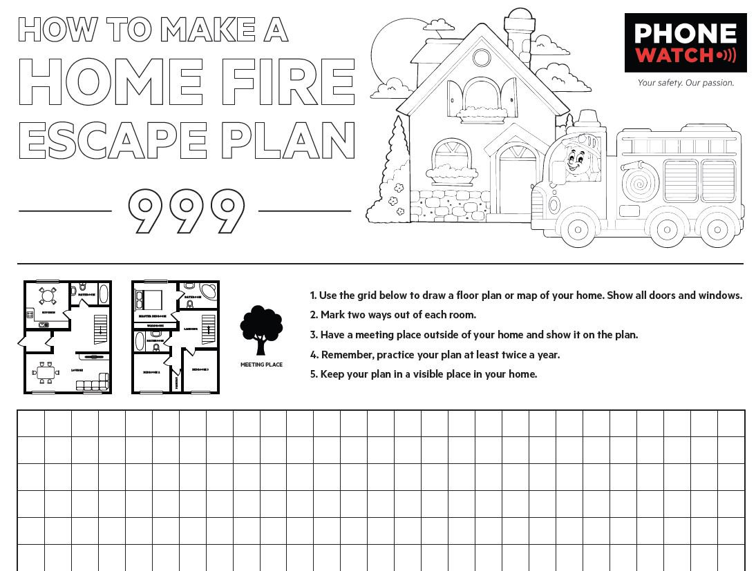 printable fire escape plan template