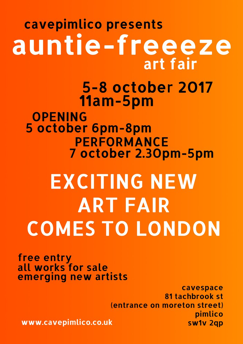 Exhibiting one of my paintings in #pimlico #auntifreeeze art fair. Please pop in and meet the friendliest staff ever