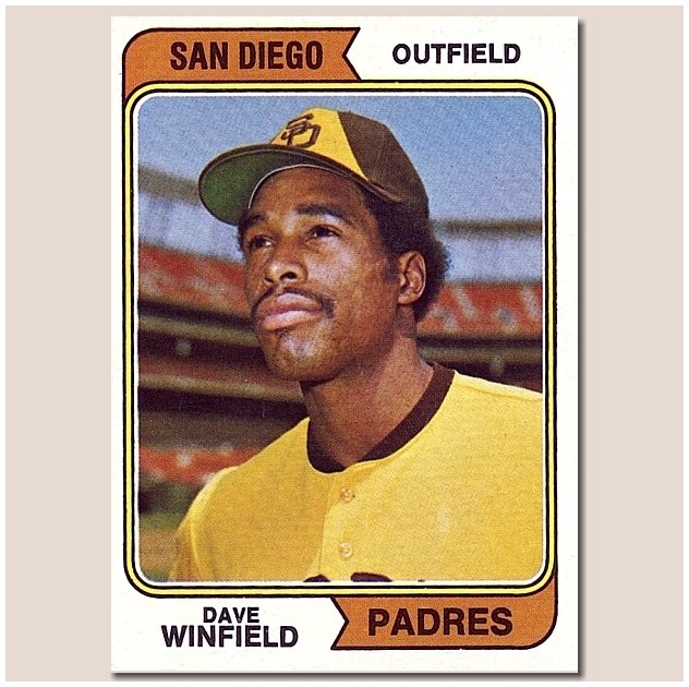 Dave Winfield, San Diego (1974 Topps Rookie Baseball Card) Happy Birthday Dave!