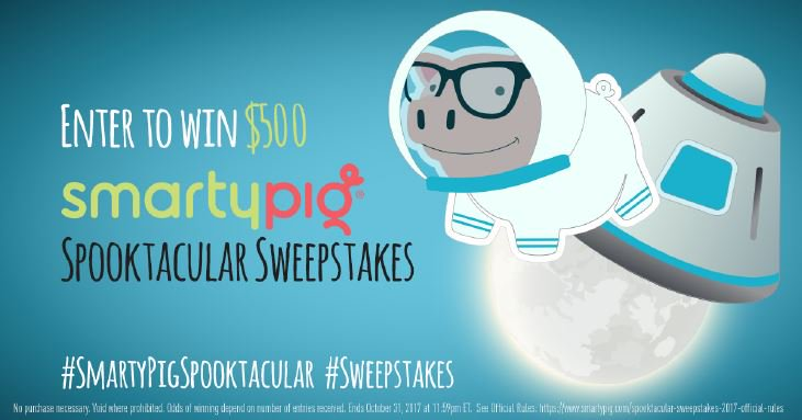 If you like Astronaut Pig best, enter to win $500 by retweeting him with #SmartyPigSpooktacular and #Sweepstakes. https://t.co/f9F1fG92Fk