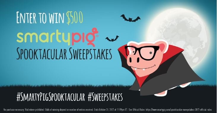 Like Dracula Pig the best? Retweet him using #SmartyPigSpooktacular and #Sweepstakes for a chance to win $500. https://t.co/Kfd10X5jFG