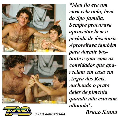 Ayrton Senna e Bruno Senna 😂😂 #SennaSemp...