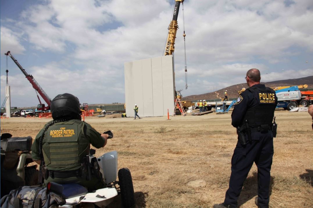 Progress check: construction of concrete wall prototypes is well underway in San Diego. #BorderSecurity https://t.co/3iVQgjHid7