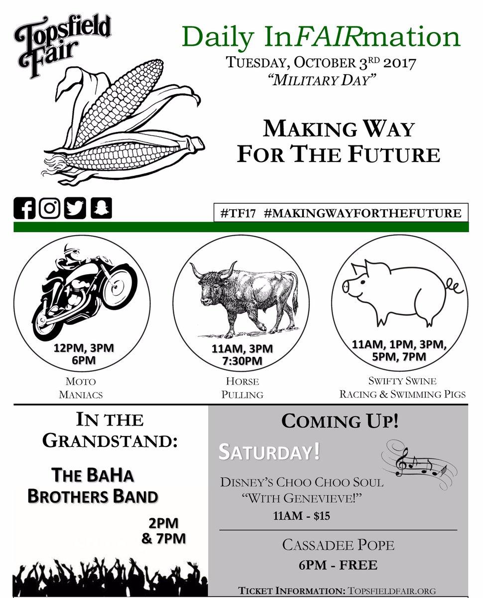 Topsfield Fair 2020.Topsfield Fair On Twitter It S Military Day On The