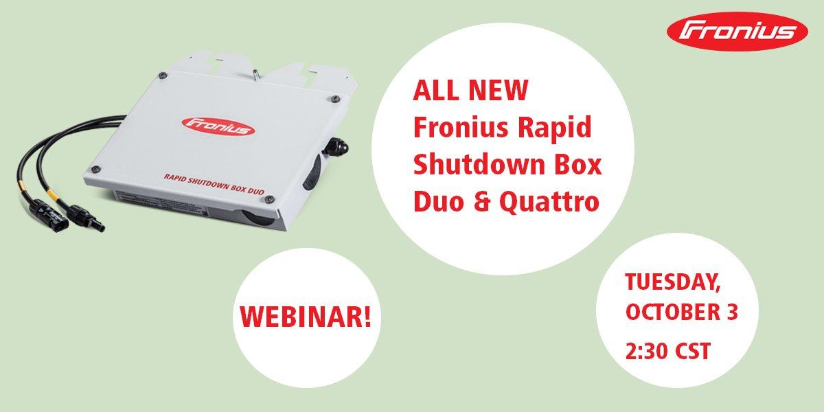 Rapid Shutdown Box Fronius QUATTRO