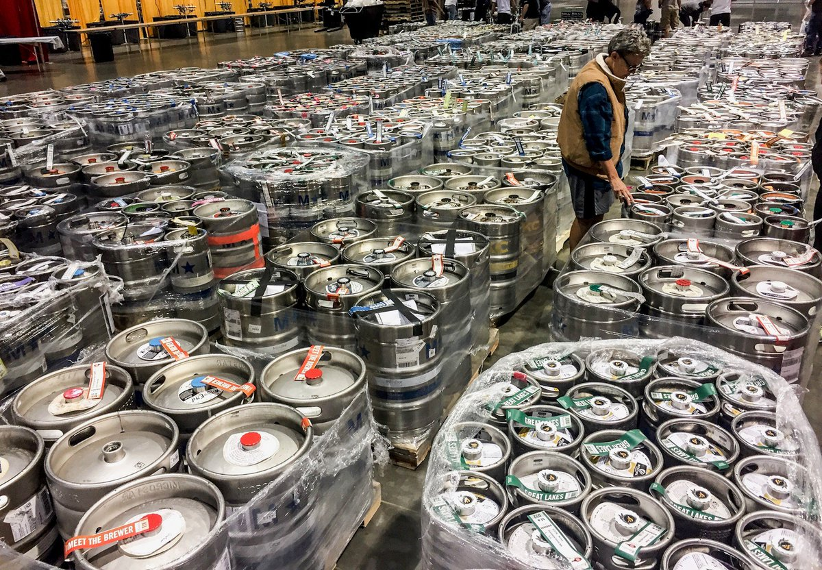 7,100+ kegs of #GABF beer are patiently waiting for you!