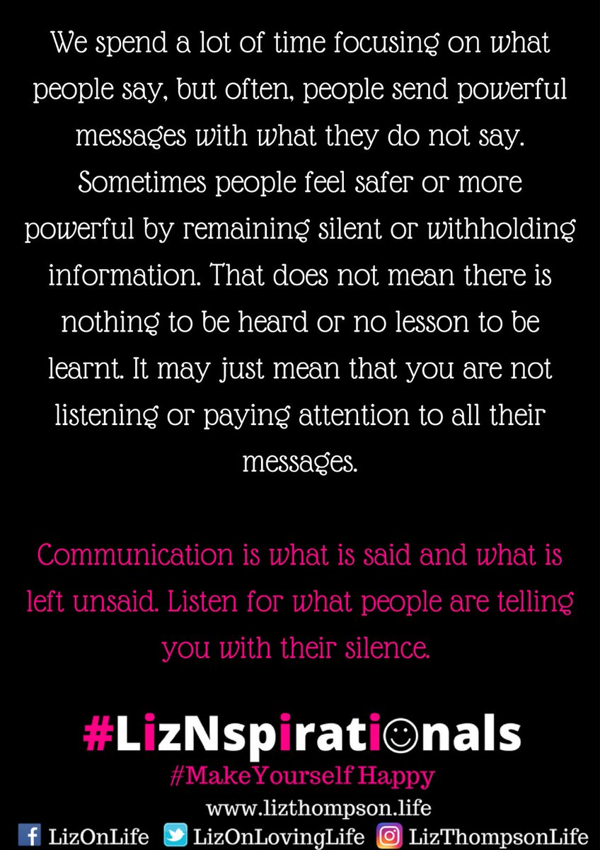 Liz thompson on twitter listen to both a persons spoken and liz thompson on twitter listen to both a persons spoken and unspoken words message and meaning solutioingenieria Image collections