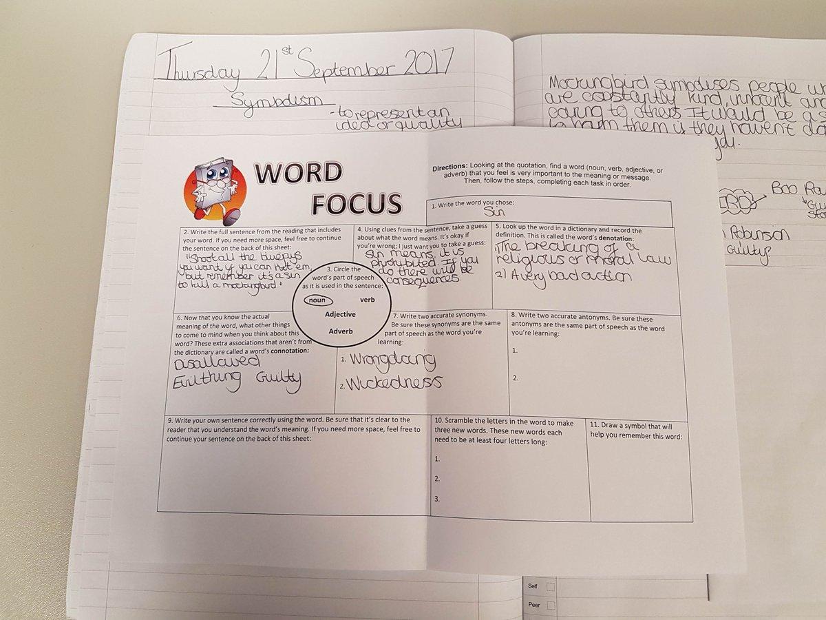 Stratforduponavonsch On Twitter Some Word Focus Work From Year 9