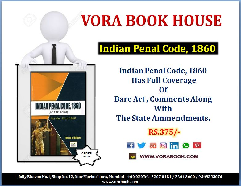 Title - Indian Pinal Code 1860 Price - 375/-   http://Www. vorabook.com  &nbsp;    #vorabookhouse #books #law #indian #pinal #code<br>http://pic.twitter.com/kZTLgrgUqV