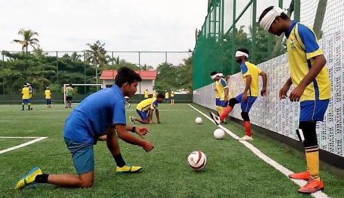 indias first blind football
