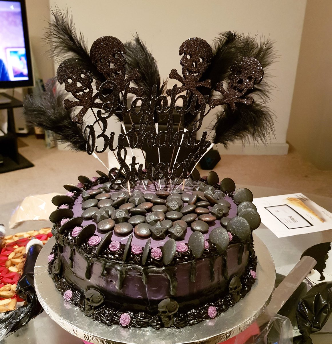 Swell Sanjna Suryavanshi On Twitter Goth Birthday Cake Made For My Funny Birthday Cards Online Inifofree Goldxyz