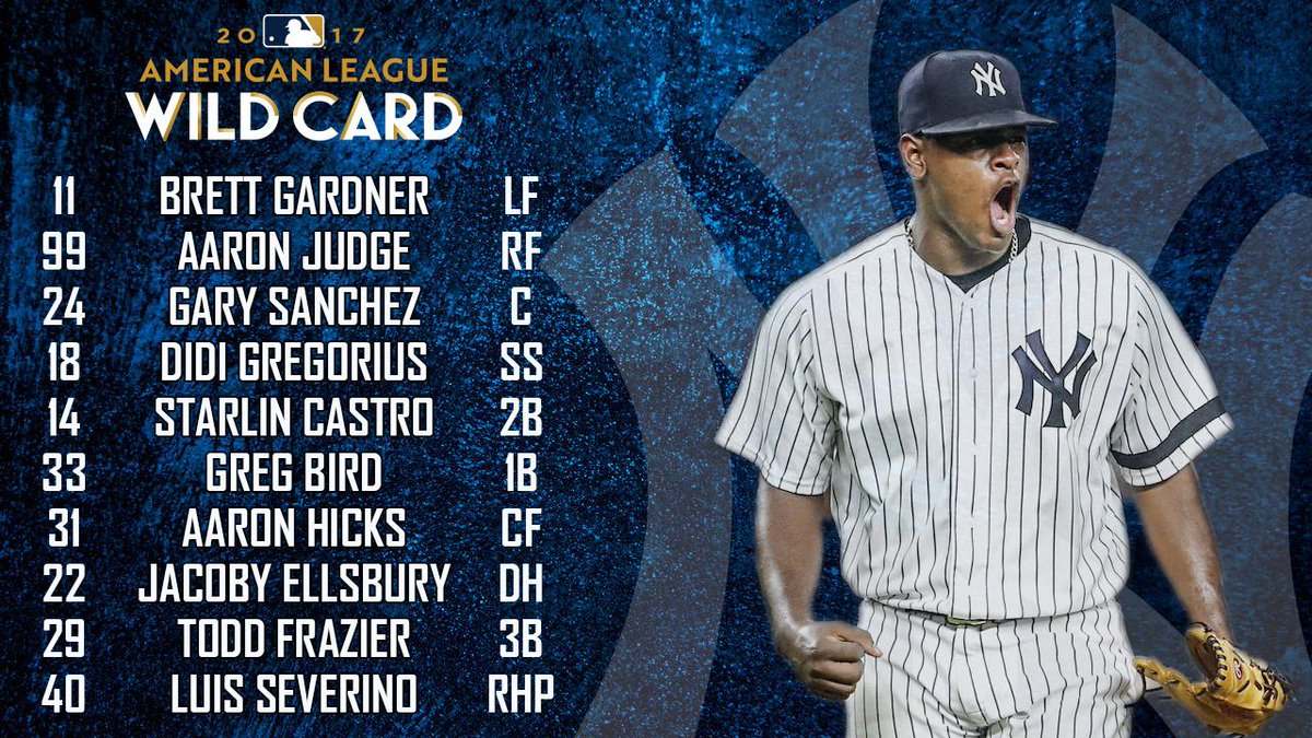 Here's how we're lining up tonight in the Bronx! https://t.co/aateoD7gm5
