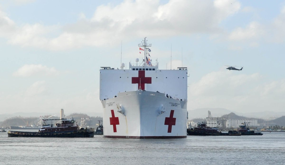 The #USNSComfort arrived in #SanJuan, #PuertoRico to help support #HurricaneMaria aid and relief operations. https://t.co/sTP0aJebrd
