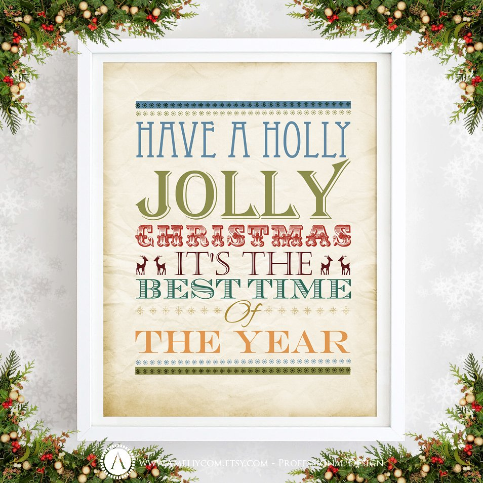 Quote Festive Home Decor By Ameliyart Etsy Https Www Listing 486382155 Christmas Wall Printable Have A Ref Active 34