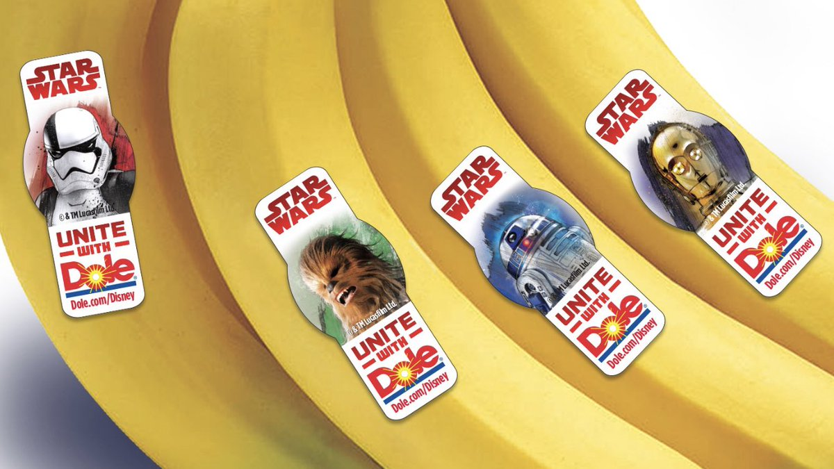 Mike Knowles On Twitter Starwars Branded Bananas On Their Way To