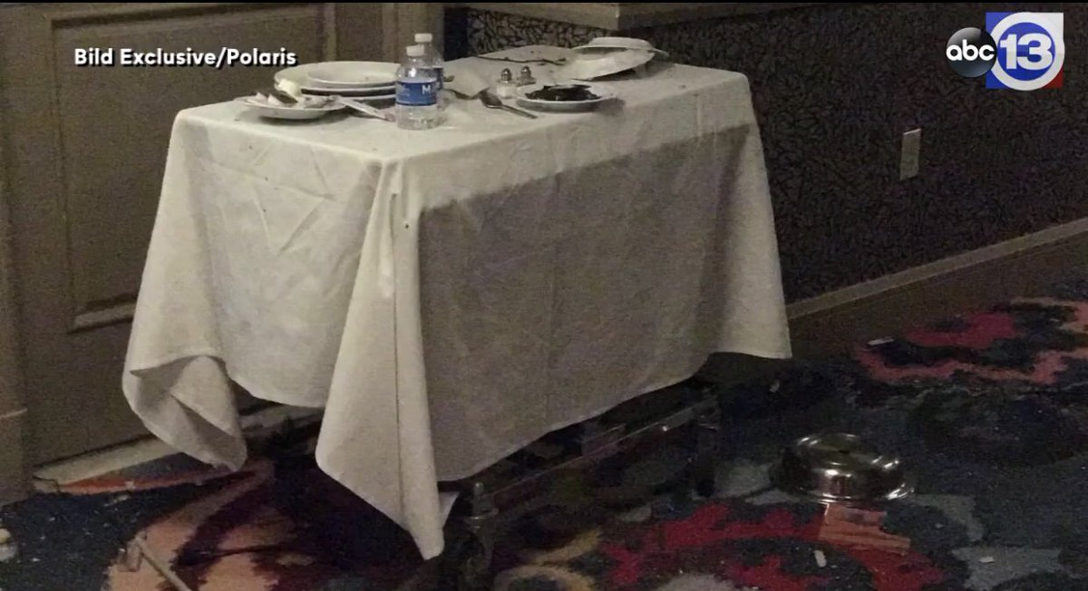 Breaking las vegas gunman placed camera in food service for Hotel room service cart