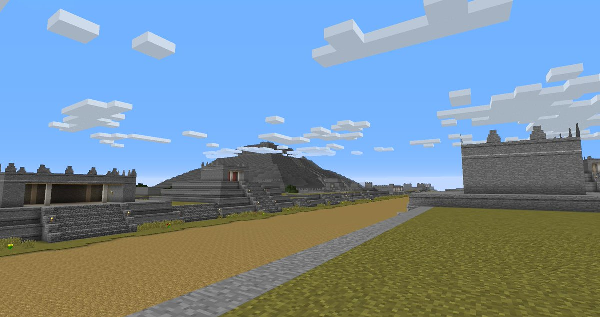 Andrew Fox on Twitter Released our Teotihuacan Minecraft map