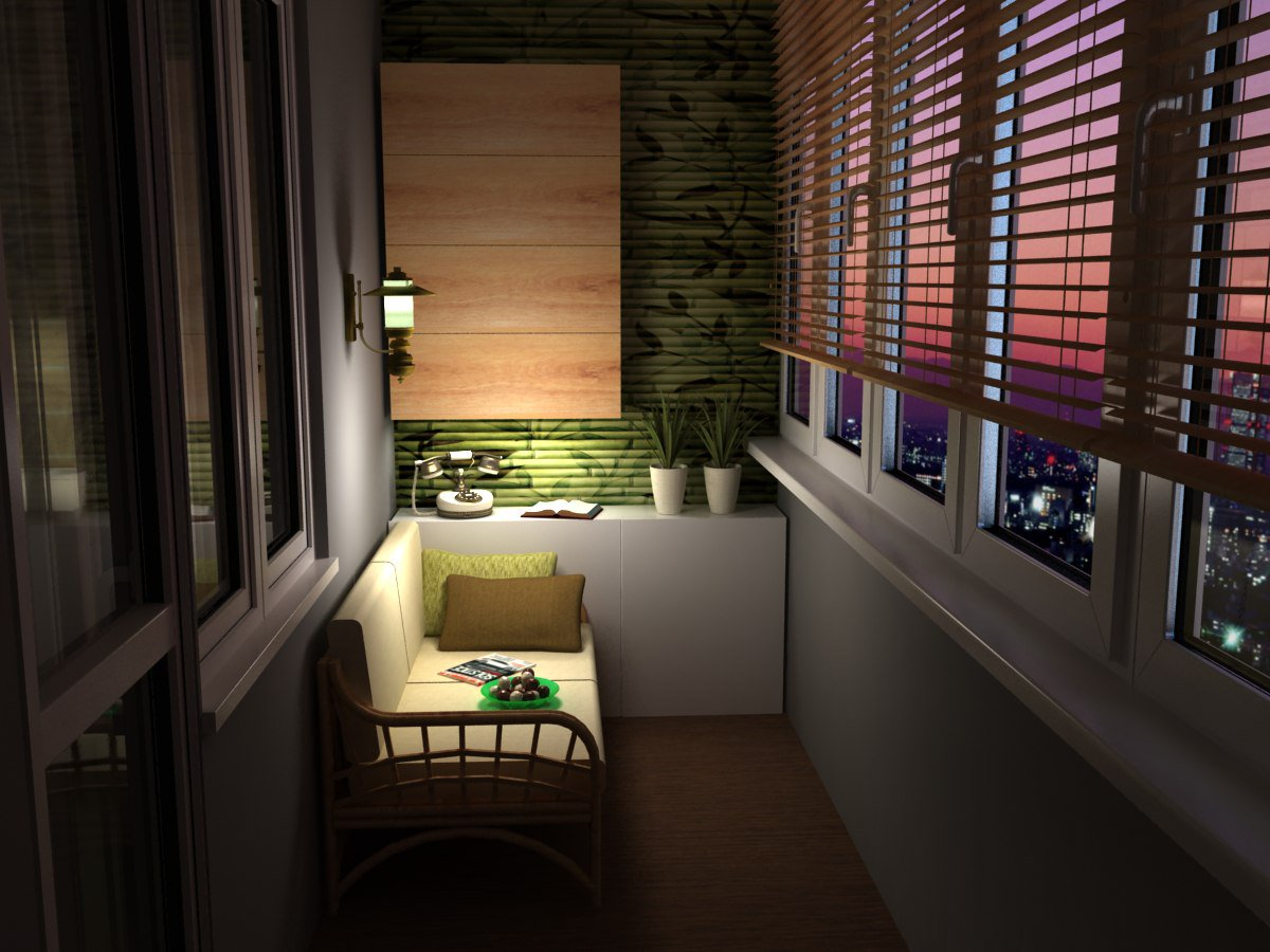 Заказать дизайн интерьера балконов и лоджий в москве.