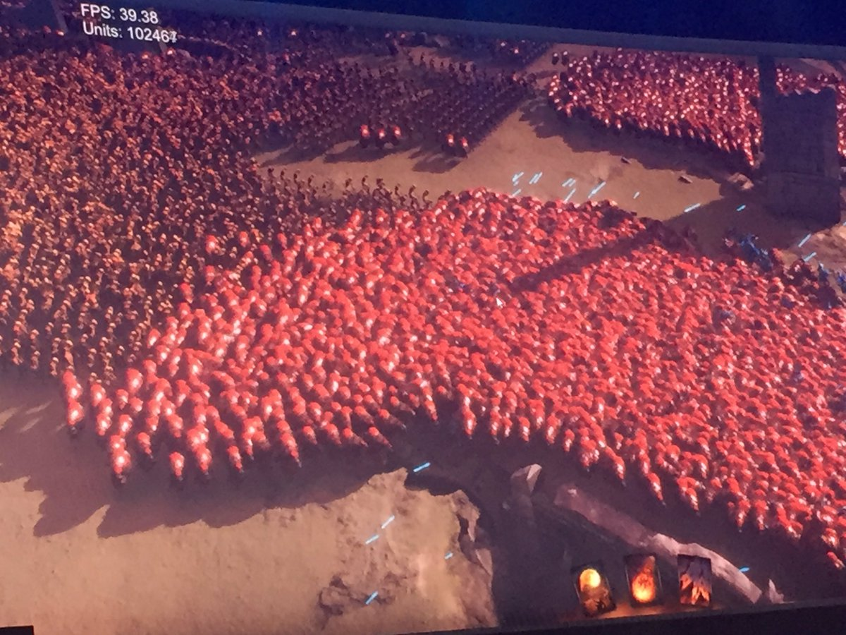 Take my money. 100k entities in scene and still have > 30 FPS. #UniteAustin #TDLatUnite #gamedev
