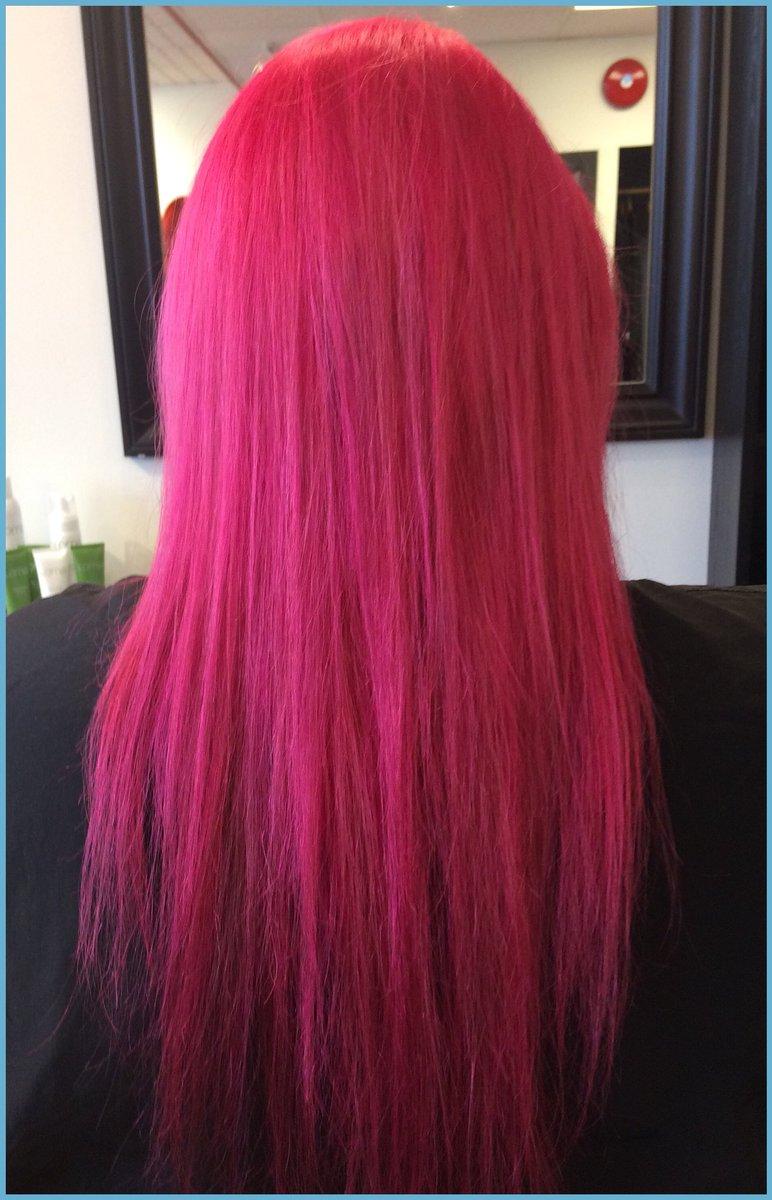 Tsala Salon Spa On Twitter Check Out Maureens Hair Hot Pink