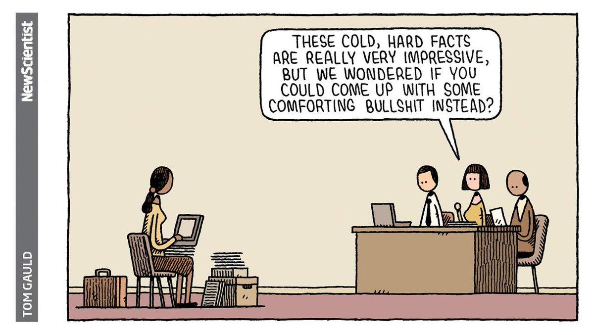 Science ≠ 'comforting bullshit' 🖌️ @tomgauld
