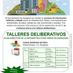 🌄19OCT - 09NOV #InfraestructuraVerde de #Zaragoza - Talleres deliberativos. #LifeZGZnatural #PDIVZ #LIFEprogramme #LIFE25NATURA