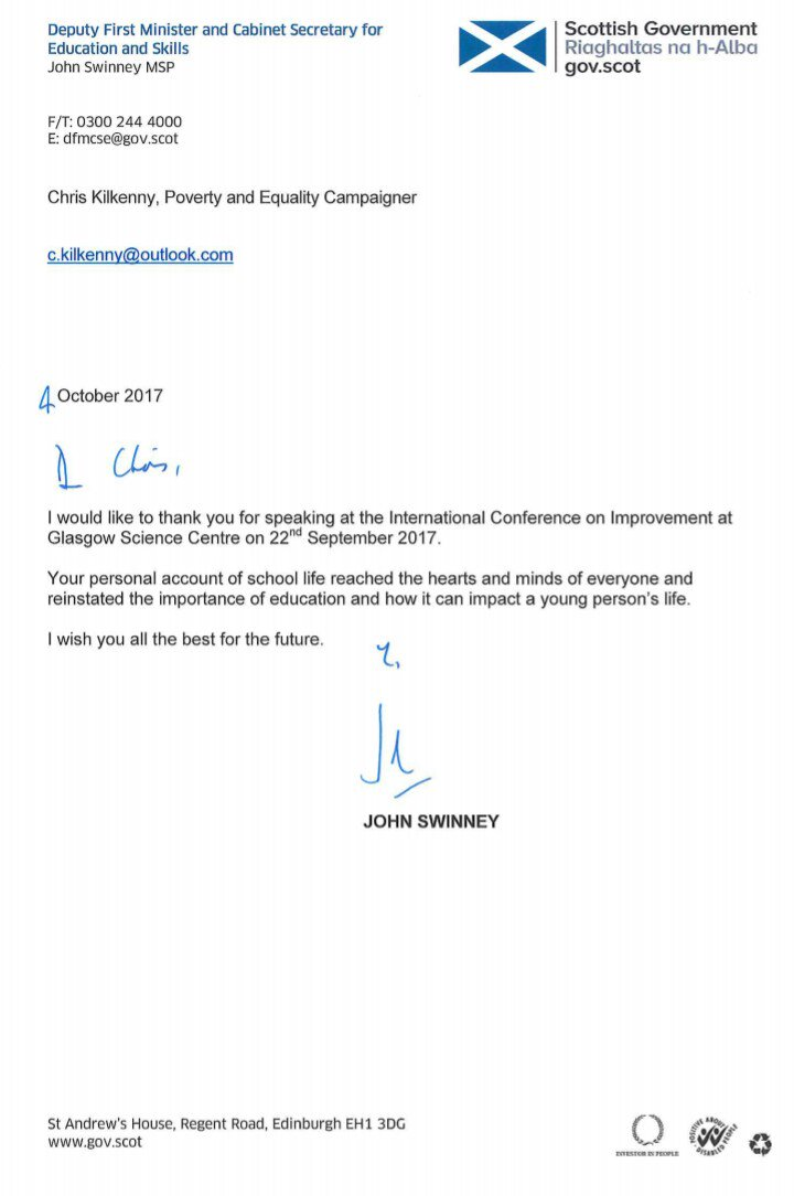 Chris kilkenny on twitter recieved a thank you letter with chris kilkenny on twitter recieved a thank you letter with feedback about my input the improvement conf johnswinney a touch of class from a busy man expocarfo Gallery