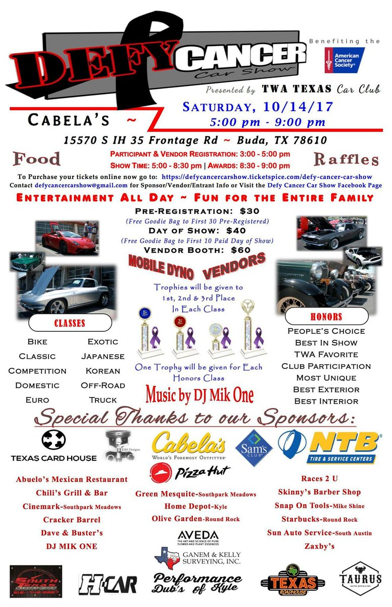 Register car online texas - Texas Card House On Twitter Proud To Support The Defy Cancer Car Show Again Hope To See Y All There Austin Poker Texas Texasholdem